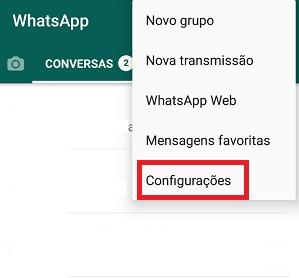 Whatsapp configurações
