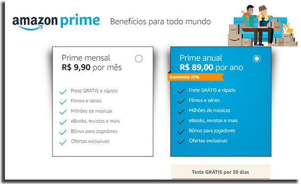 Amazon Prime Preços