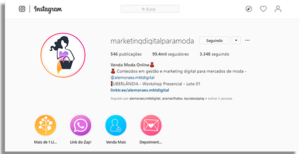 como bombar instagram perfil