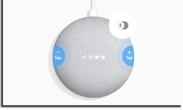 Google Home Mini vs Echo Dot Botões