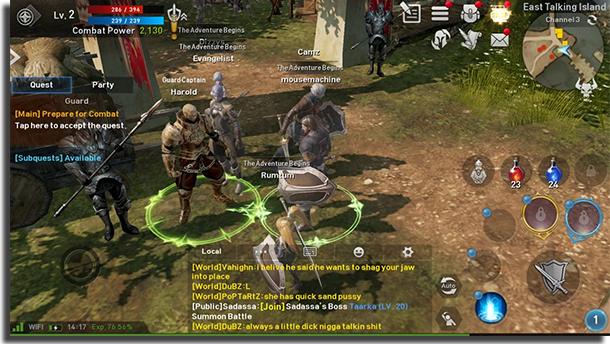 jogos de MMO para Android Lineage 2