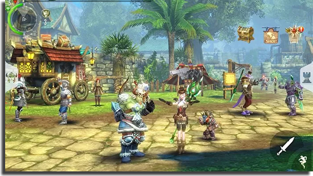 jogos de MMO para Android Order and Chaos
