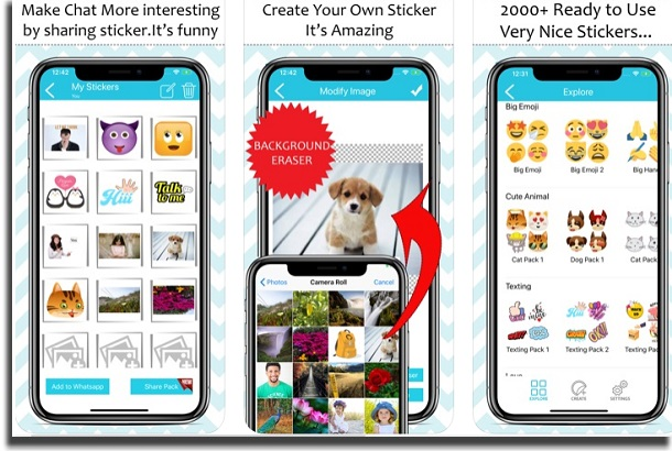 aplicativos para whatsapp sticker maker