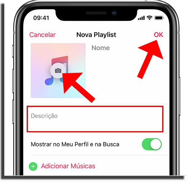 Crie fotos para suas playlists no Apple Music