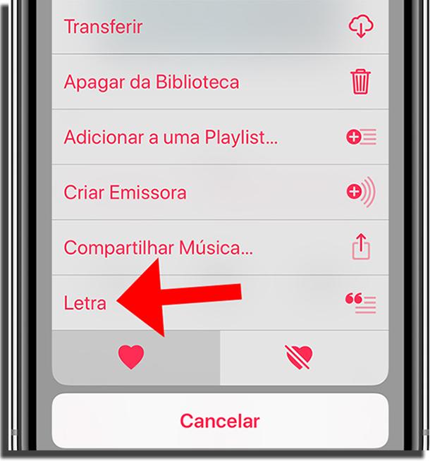 Confira letras de músicas no Apple Music