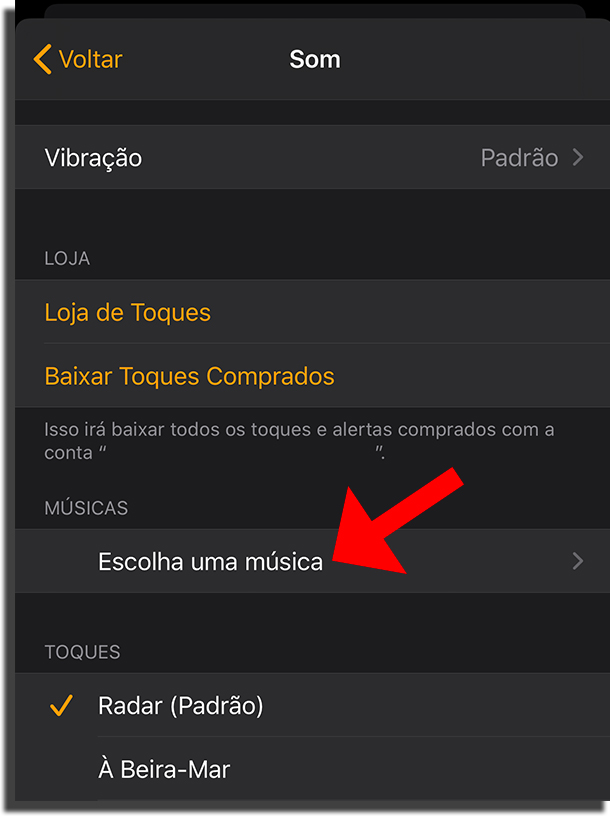 Alterar toque do smartphone com o Apple Music