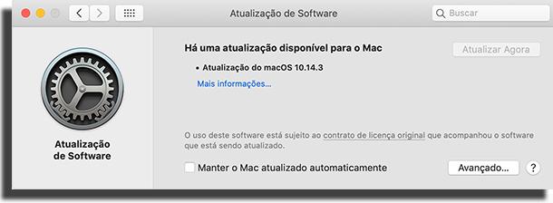 Mac não conecta - atualize o sistema