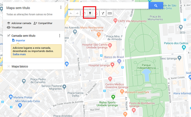 colocar pin no google maps