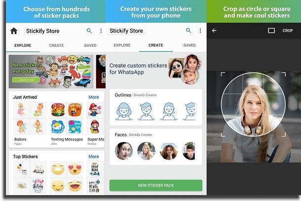 Stickify create stickers in WhatsApp