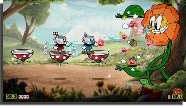 juegos cooperativos para PC Cuphead