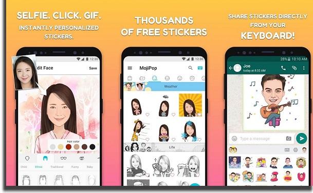 MojiPop create stickers in WhatsApp