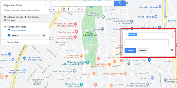 fazer pin no google maps