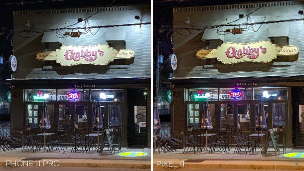 iphone 11 pro vs google pixel 4 fotos noturnas