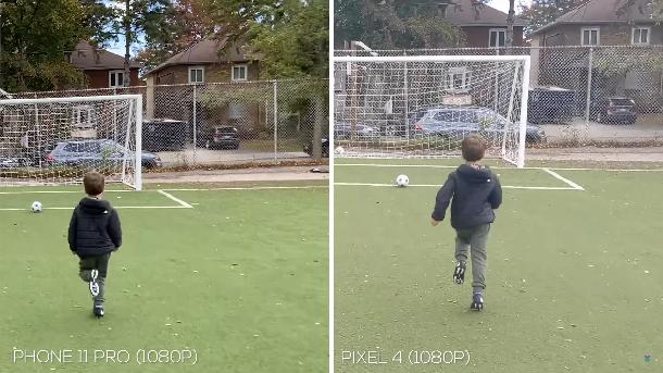 iphone 11 pro vs google pixel 4 videos