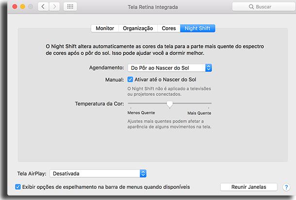 Como Ativar Night Shift apps para não cansar a sua visão