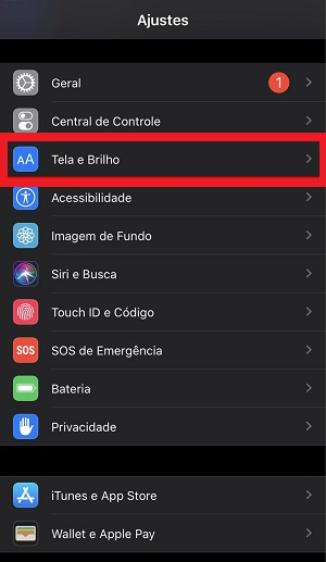 opções do tema escuro iOS