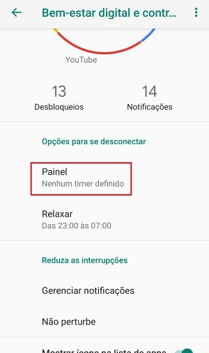 segredos do android painel de apps