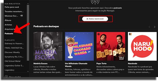 Truques e dicas do Spotify - Podcasts