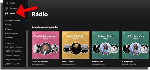 Dicas e truques no Spotify - Rádios