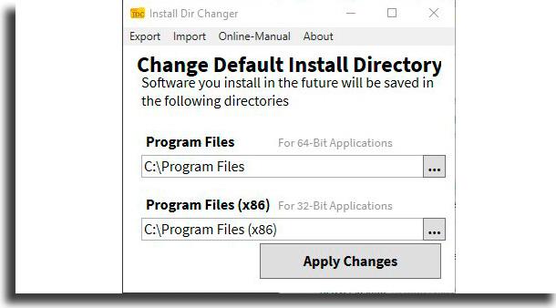 install dir changer mover programas para outro HD