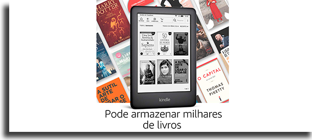 Armazenamento Kindle vs Kindle Paperwhite