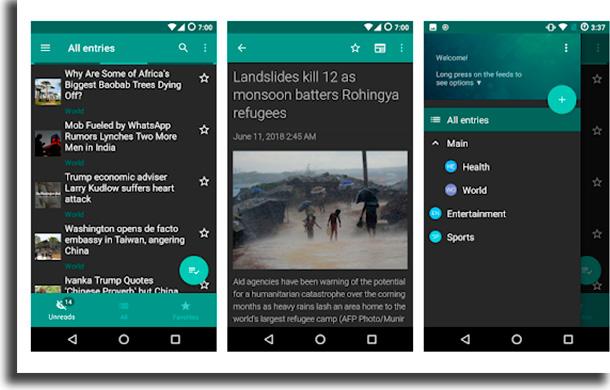 Flym aplicativos para ler notícias
