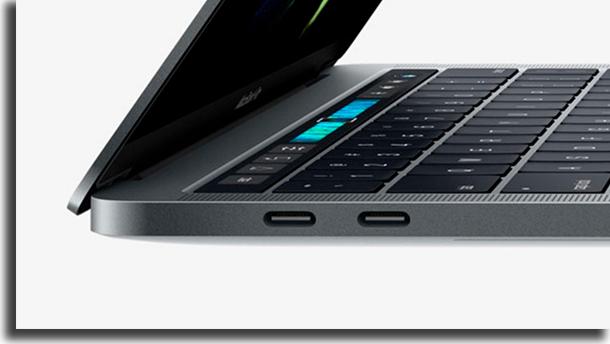 Entradas Macbook Pro de 16 polegadas