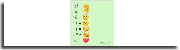 Texto em emojis atalhos para o WhastApp Web