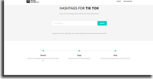 Hashtags TikTok