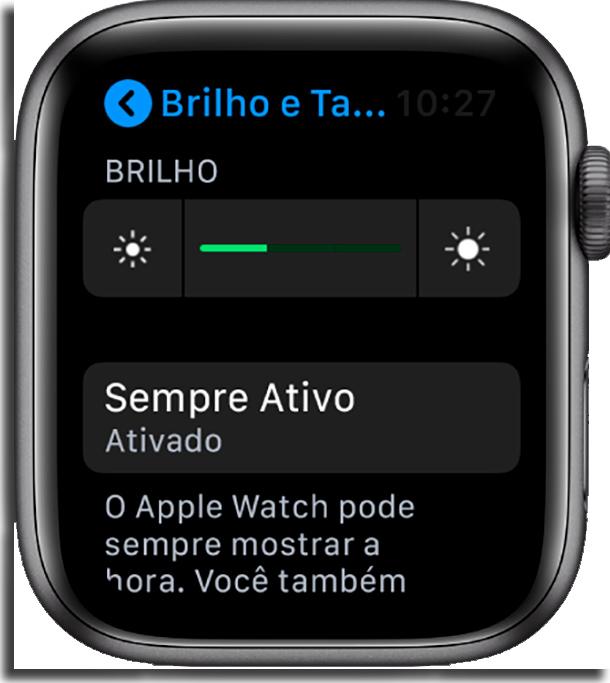 Sempre Ativo melhorar bateria do Apple Watch