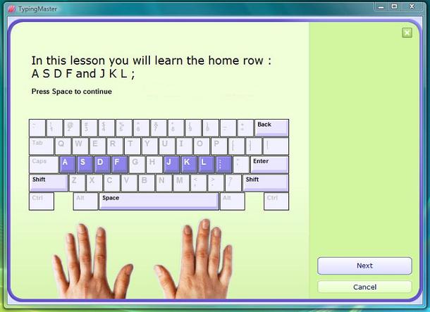 aprender digitação