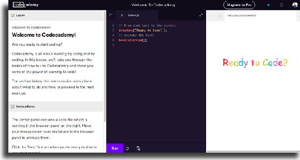 codecademy aplicativos para aprender a programar