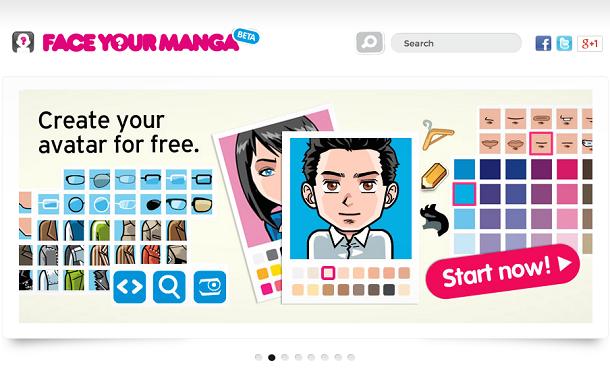 criar avatar face your manga