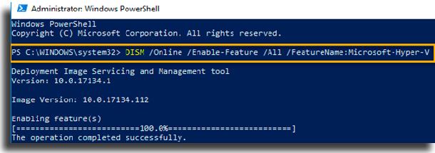 Instalar Docker para Windows dism
