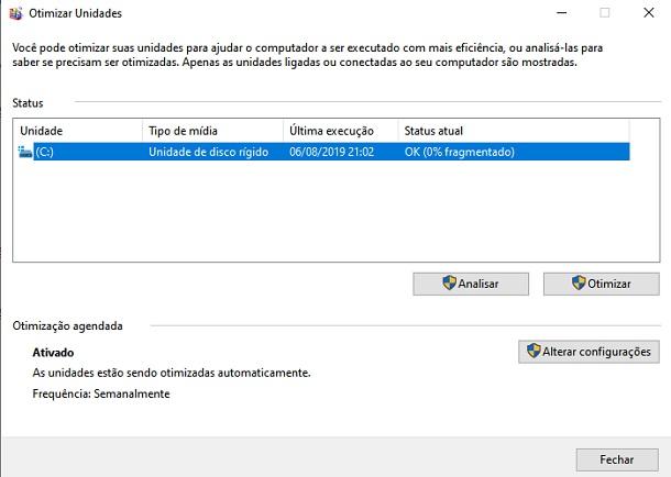 melhorar performance do hard drive
