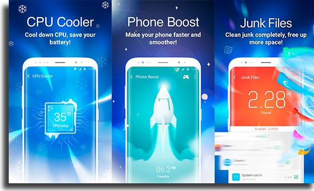 Clean Master aplicativos para liberar memória no Android