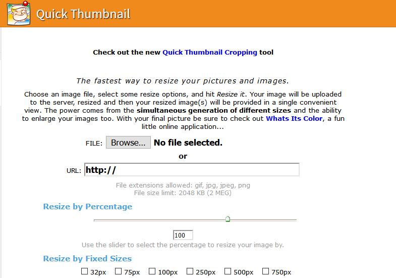 redimensionar fotos thumbnail