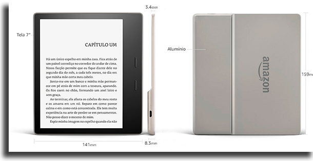 Especificações Kindle vs Kindle Oasis