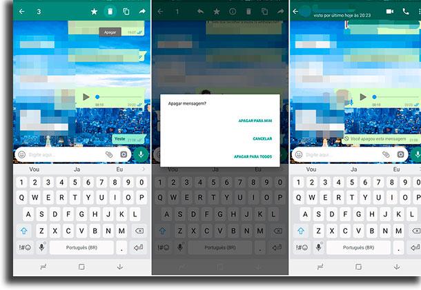 deletar mensagens grupos de whatsapp