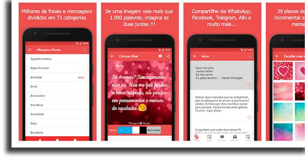 Mensagens prontas para celular aplicativos de frases