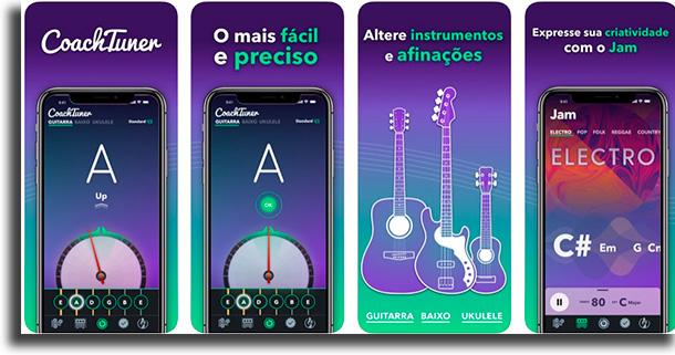 CoachTuner aplicativos para afinar o violão