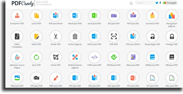 pdfcandy converter documentos word em PDF