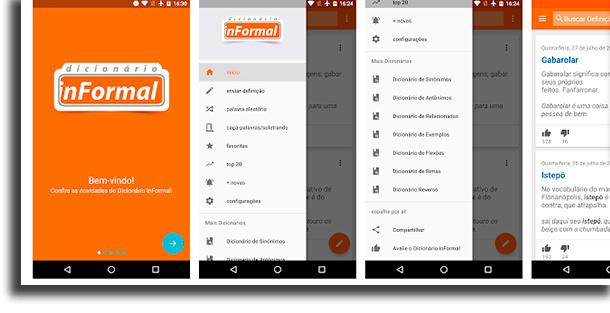 Dicionário inFormal aplicativos de dicionário