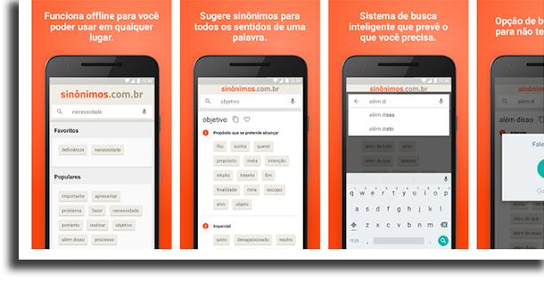 Dicionário sinônimos Offline aplicativos de dicionário
