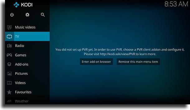 Kodi Televisión por IP