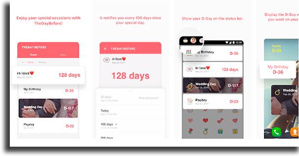 TheDayBefore aplicativos para contagem regressiva