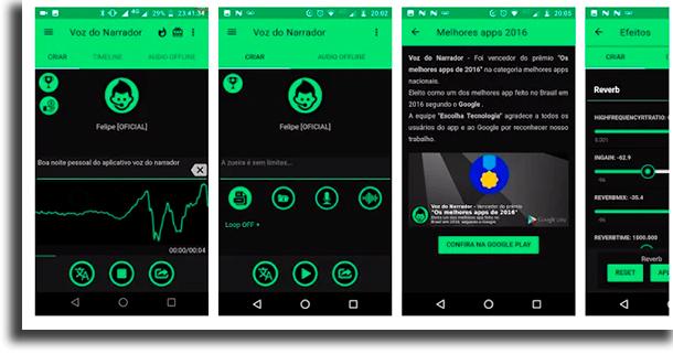 voz do narrador apps para mudar a voz