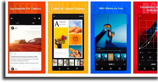 Fotor aplicativos para fazer colagens de fotos