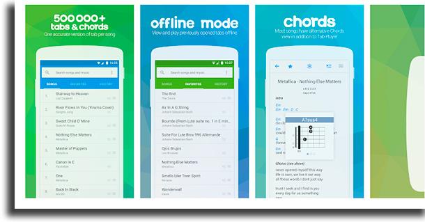 Songsterr aplicativos para ter cifras das suas músicas