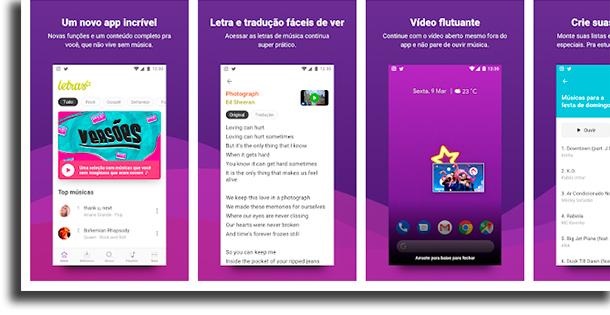 Letras.mus.br aplicativos de letras de músicas